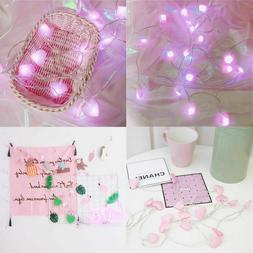 LED String Lights Heart-shape Battery for Girl Bedroom Decor