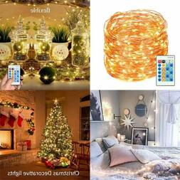 LED String Lights W Remote Control 99Ft 300 Leds Dimmable Fa