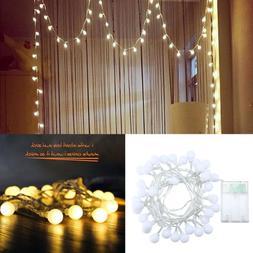 LED String Lights Warm White Ball Fairy Lights Waterproof St