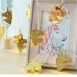 Led String Lights Warm White Iron Style Fairy Light Unicorns