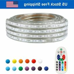 LED Strip Rope Light Waterproof Multi Color Changing Lights