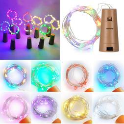 LED Wine Bottle Cork Stopper String Lights FOR Fairy Party X