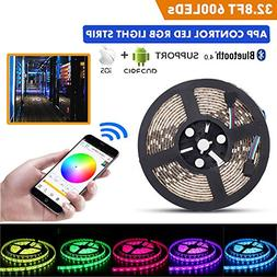 LED Light Strip Kit, 32.8Ft RGB 600 LEDs Waterproof App Stri