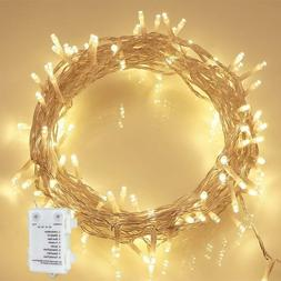 Lights 36ft 100 LED Battery Operated LED Lights with Timer f