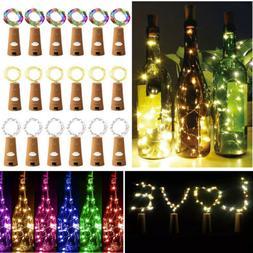 Lot 10/20 20-Leds Cork Shaped Lights String Wine Bottle Lamp