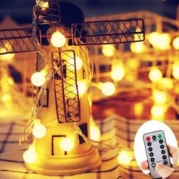 Eavann LT Battery Powered String Lights Outdoor with Remote