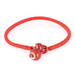 Lucky Red String Bracelets Ceramic Bead Woven Charm Bracelet