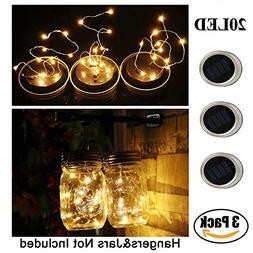 Mason Jar Lights - SurLight Solar String Lights Warm White S