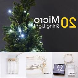 LIDORE Micro 20 Cold White LED string lights Timer version.