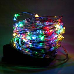 Micro LED Fairy String Lights on Copper and Silver Wire