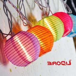 LIDORE Set of 10 New Multi-color Chinese Style Mini Nylon La