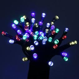 multicolor string lights solar powered party decorating