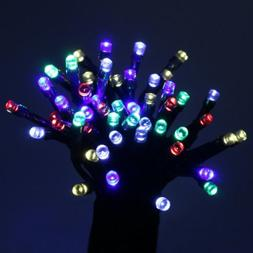 ALEKO Multicolored Solar Powered Holiday String Lights 100 L