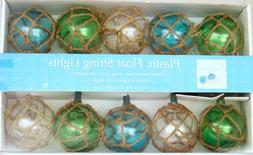 Nautical Retro Glass-Style Buoy Plastic String Lights-Assort
