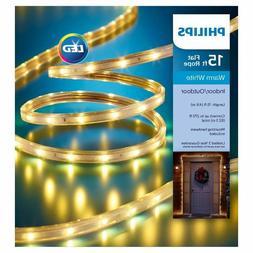 NEW! Philips 15 ft. Flat Rope Warm White Lights Christmas Ho