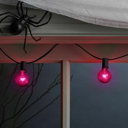 New  20ct Box of Purple G40 String Lights  Black Cord Hyde a