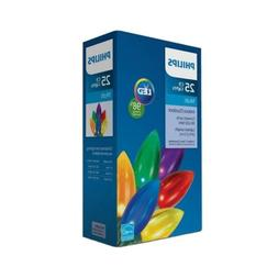 New ! 25ct Philips LED Smooth C9 Lights Multi-color Indoor O