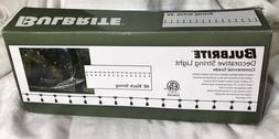 NEW Bulbrite Commercial Grade 48' Black String Lights & 15-B