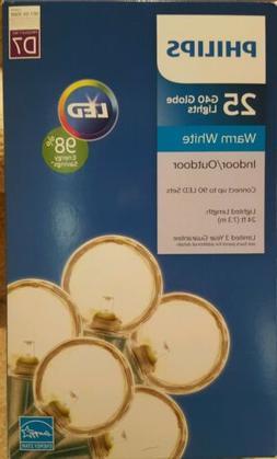 NEW - Philips G40 Christmas Globe LED String Lights Warm Whi