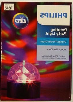 New! Philips LED Rotating Party Lights Orange/Purple/Green I