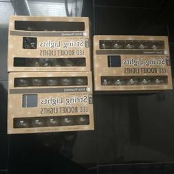 New! LED Solar Powered String Rocket Lights - 60 Globe Light