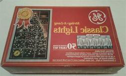 New Old stock GE STRING-a-LONG Clear CLASSIC BULB Christmas
