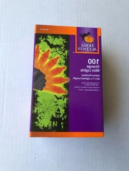 New Orange 100 Ct Indoor Out Dooe Minu String Lights