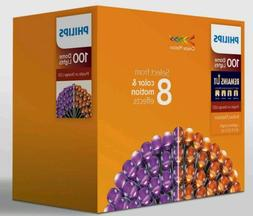 NEW - Philips 100 LED Orange/Purple Color Changing Halloween