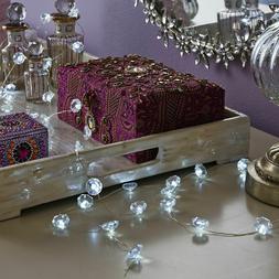 NEW Set of 2 Manor Lane 10-ft. LED Jewel Diamonds Clear Shim