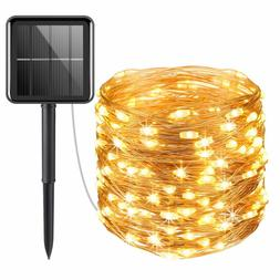 New Solar Powered String Lights, 100 LED Copper Wire Starry