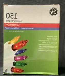 NIB GE 150 Miniature String Lights - ConstantON - Multicolor