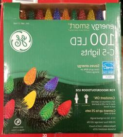 NIB NEW  GE Energy Smart 100-Count Multi Color C5 LED String