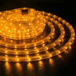"Orange 3/8"" LED Rope 110V Wire Flexible Light Outdoor 10' 20"