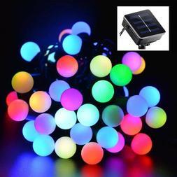 outdoor 20ft 50 led solar string ball