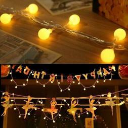 Outdoor Indoor 10-50 LED String Light Globe Ball Fairy Light
