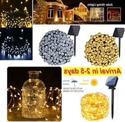 Outdoor Solar Fairy String Lights Copper Wire Waterproof Gar