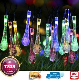 Outdoor Solar Powered 30 LED String Light Garden Patio Yard