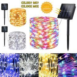 Outdoor Solar String Lights Copper Wire Waterproof 100/200 L