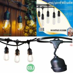 Outdoor String Lights 48' LED For Patio Includes Bulbs Weath