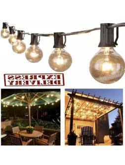 Outdoor String Lights G40 Globe Bulbs Patio Yard Garden Wate