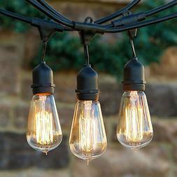 Pair Outdoor Weatherproof Vintage Edison Bulb String Lights