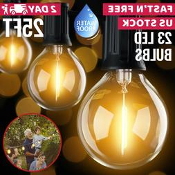 Patio String Lights Bulbs Outdoor Backyard Outside Hanging B