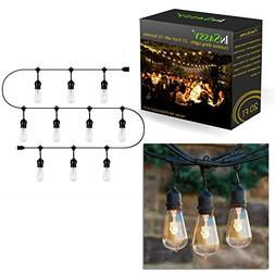 InSassy Outdoor Patio String Lights Weatherproof 20.5 Foot w