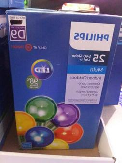 PHILLIPS G40 25 BULB MULTI COLOR LED GLOBE LIGHTS INDOOR OR