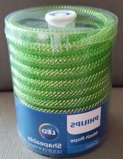 Phillips LED Green Mesh Rope Lights 14.5 ft Shapeable NEW