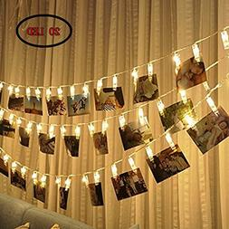 Photo Clip String Lights 20 Photo Clips, Perfect for Hanging