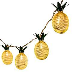 GIGALUMI Pineapple String Lights, 10ft 10 LED Fairy String L