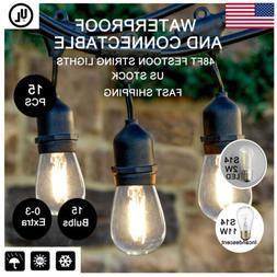 Premium Weatherproof Outdoor String Lights for Patio – 48f
