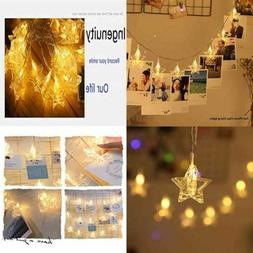Prince Team 20LED Star Photo Clips String Lights Girls Heart