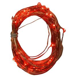 Product Works Tiny Lites Micro Red LED 60 Lights String Stra